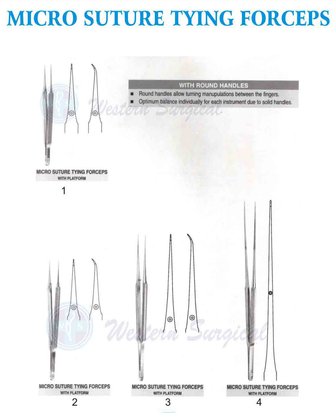 Micro suture tying forceps