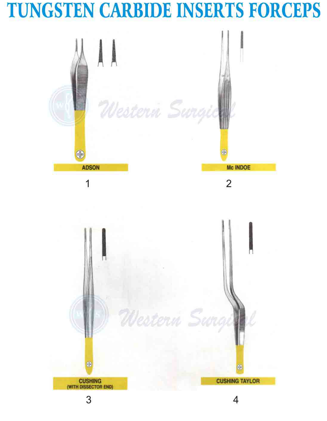Tungsten Carbide inserts Forceps