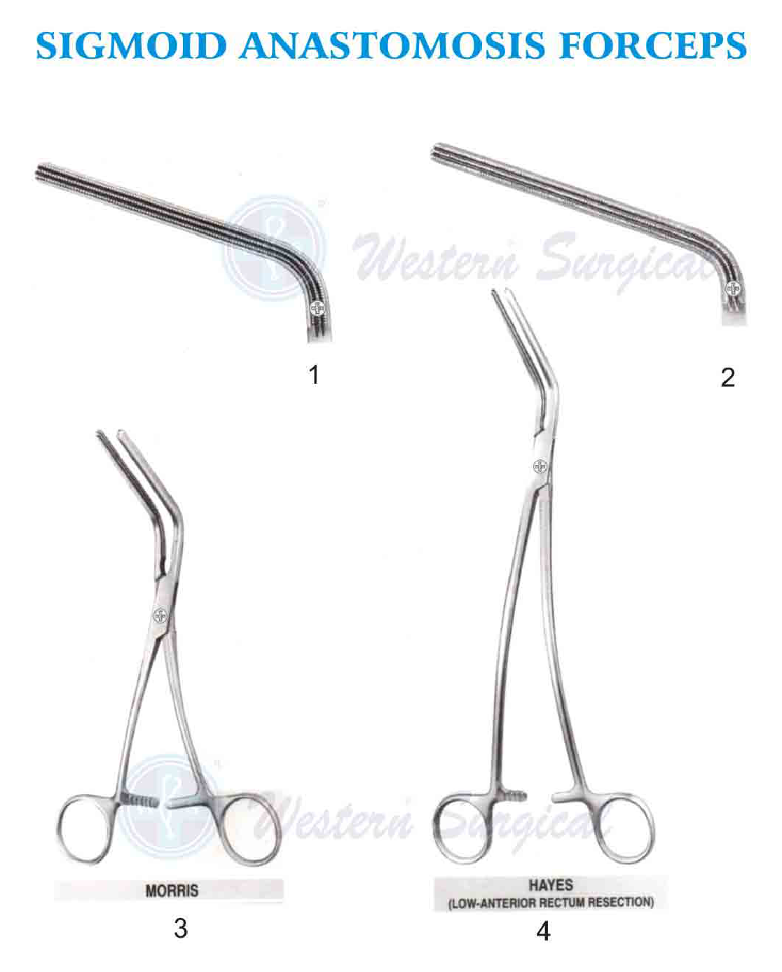 Sigmoid Anastomosis Forceps