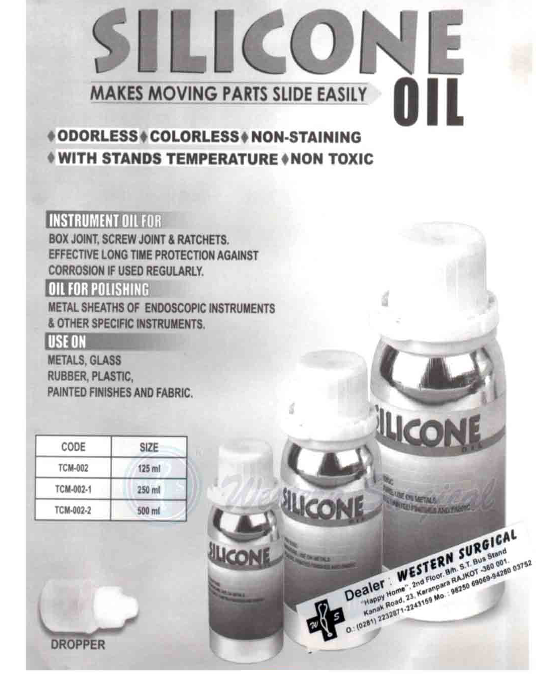 Slicone Makes moving parts slide easily oil