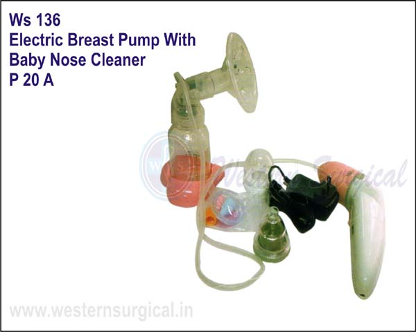 Electric Breast Pump With Baby Nose Cleaner