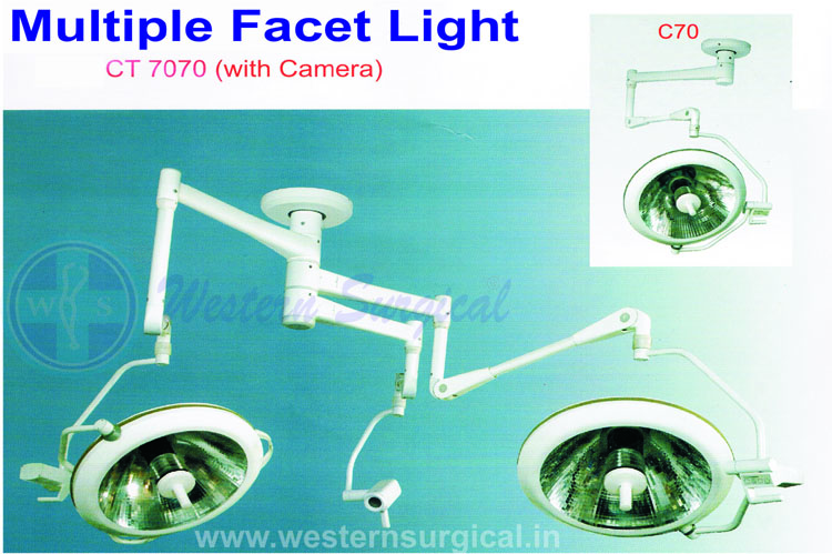 OT LIGHT HALOGEN MULTIPLE FECET CEILING 1 & 2 DOME CT 70-70 WITH CAMERA