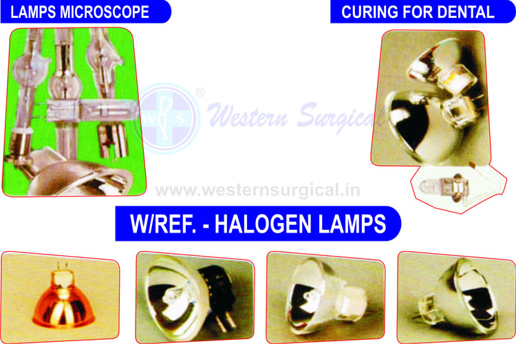 LAMP MICROSCOP & LAMP CURING FOR DENTAL & LAMP HALOGEN WITH REFLACTOR